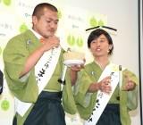 食レポに挑戦したカミナリ(左から)竹内まなぶ、石田たくみ (C)ORICON NewS inc.