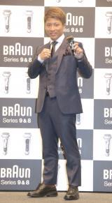 『BRAUNシリーズ9・シリーズ8 新製品PR発表会』に参加した井上尚弥選手 (C)ORICON NewS inc.