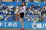 4年連続神宮球場で始球式を行った氷川きよし (C)oricon ME inc.