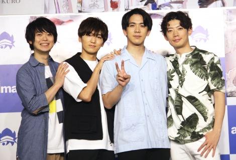 (左から)土岐隼一、山下誠一郎、伊東健人、濱野大輝 (C)ORICON NewS inc.