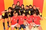 『炎の体育会TVSP』に出演するラグビー女子セブンズ日本代表軍と日曜劇場『ノーサイド・ゲーム』でトキワ自動車ラグビーチーム「アストロズ」のメンバー(C)TBS