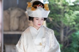 連続テレビ小説『なつぞら』第19週・第114回。なつ(広瀬すず)の花嫁姿(C)NHK