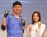 足立梨花(右)にアプローチしたアンガールズ・田中卓志(左) (C)ORICON NewS inc.