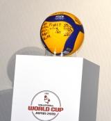 メッセージ入りボール=『FIVBワールドカップバレーボール2019』1ヶ月前イベント (C)ORICON NewS inc.