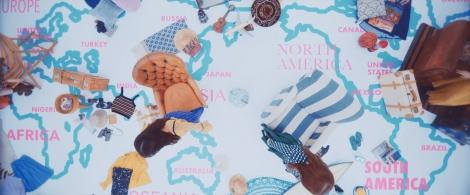 意味深に描かれた世界地図