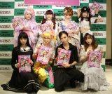 写真集『Harajuku Wonderland』発売記念お渡し会を開催した(上段左から)木村優、青木美沙子、深澤翠、椎名ひかり、(下段左から)ゆら、紅林大空、AKIRA、皆方由衣 (C)ORICON NewS inc.