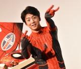スパイダーマンコスプレに照れ笑いしていた伊藤健太郎=映画『スパイダーマン:ファー・フロム・ホーム』大ヒット記念舞台あいさつ (C)ORICON NewS inc.