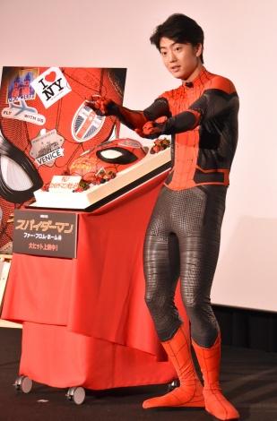 映画『スパイダーマン:ファー・フロム・ホーム』大ヒット記念舞台あいさつに登壇した伊藤健太郎 (C)ORICON NewS inc.