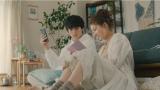 マイナビウエディング新TVCM『頭の中で何度も式を』篇に出演する(左から)新田真剣佑、吉川愛