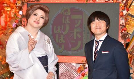 (左から)IKKO、バカリズム =テレビ西日本『だれも調べたことのない日本語ランキング ニッポンねほりはほり』収録取材 (C)ORICON NewS inc.