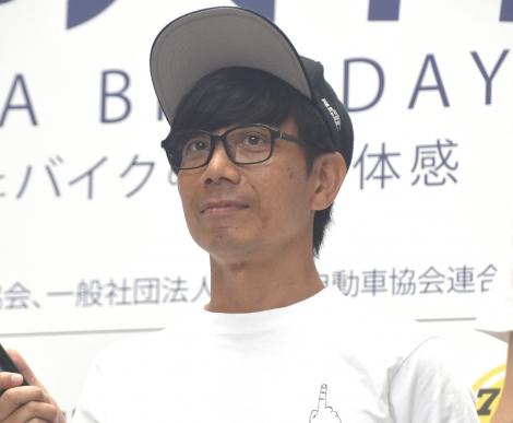 『8月19日はバイクの日 HAVE A BIKE DAY』に出席したバッファロー吾郎・竹若元博 (C)ORICON NewS inc.
