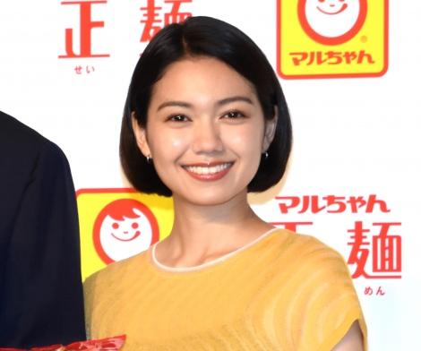 母親の教えを明かした二階堂ふみ=『マルちゃん正麺』新CM発表会 (C)ORICON NewS inc.