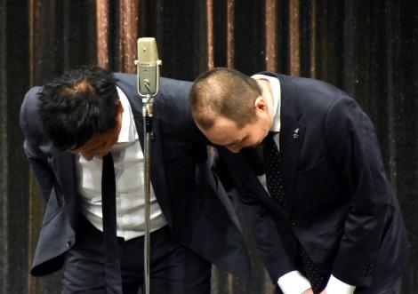 謹慎処分を受けてからきょう19日をもって処分が解除されたスリムクラブ(左から)真栄田賢、内間政成 (C)ORICON NewS inc.