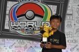 カードゲーム部門(ジュニアカテゴリー)優勝者のミヤモトハルキ選手