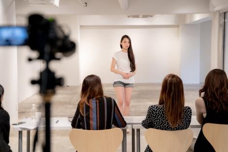 『2019 ミス・ユニバース・ジャパンファイナル NEW ERA』トレーニングの模様(C)Miss Universe Japan