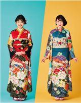 初めて自身でデザインし、プロデュースした振袖を着る久間田琳加