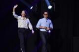 (左から)キャスリーン・ケネディ社長、J.J.エイブラムス監督=『D23 Expo 2019』(C)201 9 Lucasfilm Ltd. All Rights Reserved