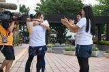 『24時間テレビ』駅伝のタスキは第3走者の水卜麻美アナから第4走者のいとうあさこへ(C)日本テレビ