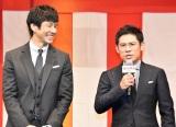 映画『任侠学園』の完成披露試写会に登壇した(左から)西島秀俊、伊藤淳史 (C)ORICON NewS inc.