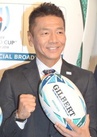 『ラグビーワールドカップ2019日本大会』日本テレビ系中継番組出演者 結団式に出席した上田晋也 (C)ORICON NewS inc.