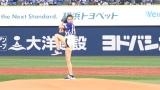 始球式に挑む片瀬那奈 (C)ORICON NewS inc.