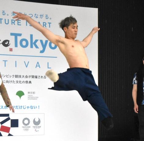 "Tokyo Tokyo FESTIVALのPRイベント『No Border""ART×SPORTS""芸術とスポーツの融合』に出席した大前光市 (C)ORICON NewS inc."