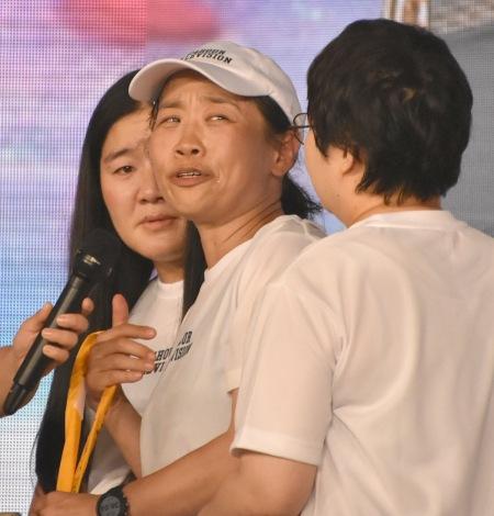 『24時間テレビ』駅伝の最後のタスキを両国国技館に届けた第4走者のいとうあさこ (C)ORICON NewS inc.