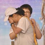 『24時間テレビ』駅伝の最後のタスキを両国国技館に届けた第4走者のいとうあさこはゴールに涙 (C)ORICON NewS inc.