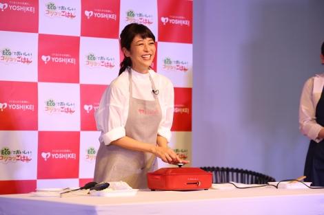 食材宅配サービス『ヨシケイ』アンバサダー就任記念発表会に登場した白石美帆