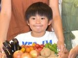 料理イベント『5色のカラフル野菜レシピで料理体験! ファイトケミカルスで元気一杯!』に参加した草野崇徳くん (C)ORICON NewS inc.