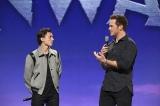『2分の1の魔法(原題:Onward)』(日本では2020年3月13日公開)声優のトム・ホランド、クリス・プラットが登壇(C)Disney/Pixar
