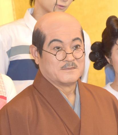 舞台『サザエさん』の初日公演を終え、取材会に参加した波平役の松平健 (C)ORICON NewS inc.