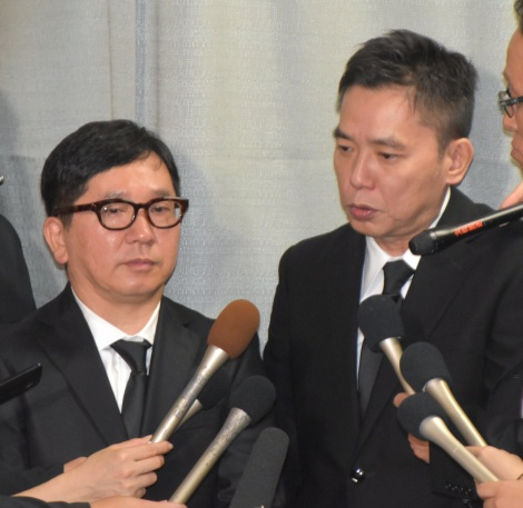 ジャニー喜多川さんのお別れの会に参列した爆笑問題 (C)ORICON NewS inc.