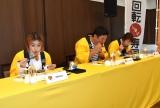 元気寿司商品開発コンテスト決勝大会『キッチンファイト6thシーズン』に出席した(左から)IMALU、佐々木蔵之介、北斗晶 (C)ORICON NewS inc.