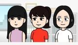 アニメ『おしゃべり唐あげ あげ太くん』に出演するPerfume