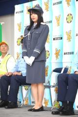 東京・麻布警察署の一日警察署長に就任した桜井日奈子 (C)ORICON NewS inc.