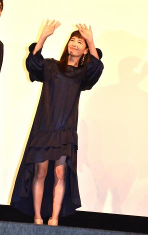 映画『影に抱かれて眠れ』の公開初日舞台あいさつに登壇した中村ゆり (C)ORICON NewS inc.