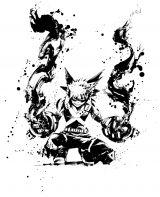 テレビアニメ『僕のヒーローアカデミア』の水墨画アート (C)堀越耕平/集英社・僕のヒーローアカデミア製作委員会