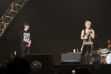 "『GUNDAM 40th FES. ""LIVE-BEYOND""』1日目に出演した(左から)澤野弘之、T.M.Revolution、"
