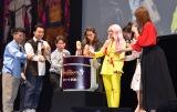映画『ディセンダント3』ファンミーティングに出席した(左から)おたけ、斉藤慎二、太田博久、ブーブー・スチュアート 、ダヴ・ キャメロン、岡田結実、生見愛瑠 (C)ORICON NewS inc.