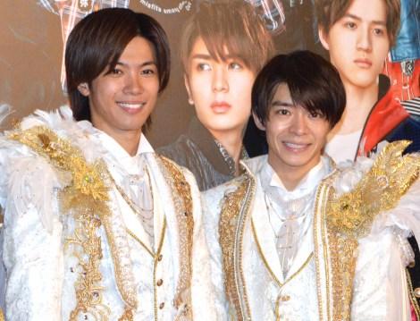 舞台『ドリームボーイズ』の囲み取材に出席したKing & Prince(左から)神宮寺勇太、岸優太 (C)ORICON NewS inc.