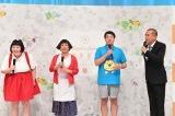 『石屋製菓×吉本興業 新プロジェクト 記者発表』に出席した(左から)酒井藍、すっちー、タカ、トシ