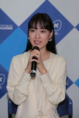NHK大阪放送局で行われた連続テレビ小説『スカーレット』第1週分の試写会に出席した戸田恵梨香 (C)NHK
