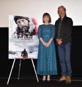 映画『残された者−北の極地−』のジャパンプレミアに出席した(左から)佐藤仁美、マッツ・ミケルセン (C)ORICON NewS inc.