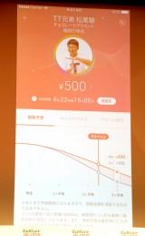 500円査定の結果=中古車販売業界大手・ガリバーの新サービス発表会 (C)ORICON NewS inc.