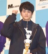 男性ファッション誌『メンズノンノ』の専属モデルを選出する公開オーディションでグランプリを獲得した鈴鹿央士さん (C)ORICON NewS inc.