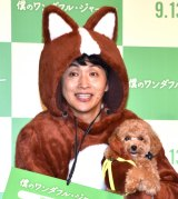 映画『僕のワンダフル・ジャーニー』のヒット祈願イベントに出席した児嶋一哉 (C)ORICON NewS inc.