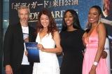 ミュージカル『ボディガード』来日公演の初日レッドカーペットイベントに出席した(左から)ブノワ、LiLiCo、アレクサンドラ、ジェンリー (C)ORICON NewS inc.