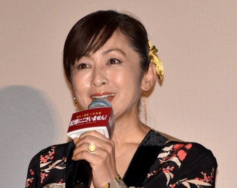映画『記憶にございません!』の初日舞台あいさつに出席した斉藤由貴 (C)ORICON NewS inc.