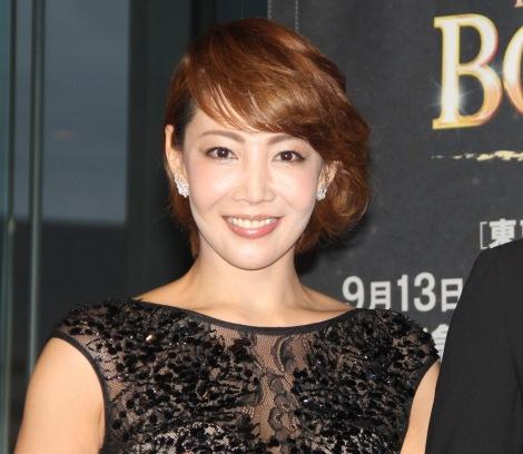 ミュージカル『ボディガード』来日公演の初日レッドカーペットイベントに出席した柚希礼音 (C)ORICON NewS inc.